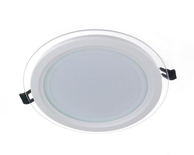Glass LED Panel Light Round 12W 4000K