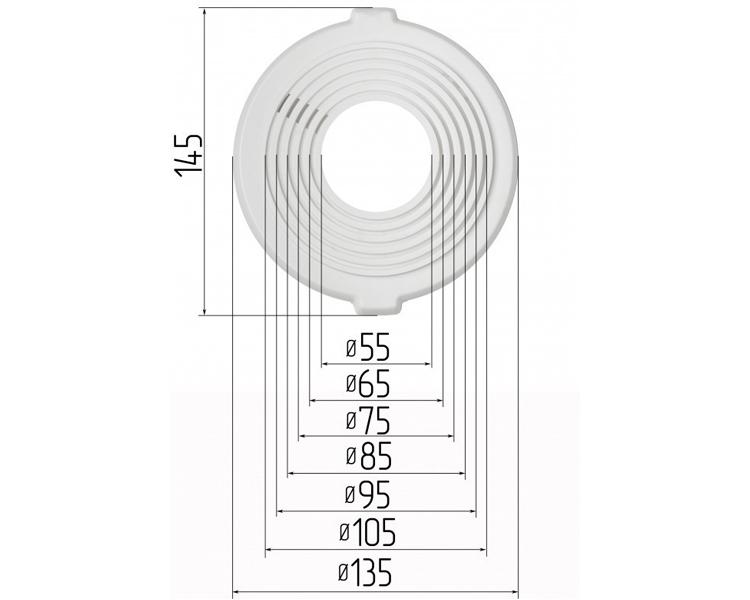 Chaises de spots Ø 55-105