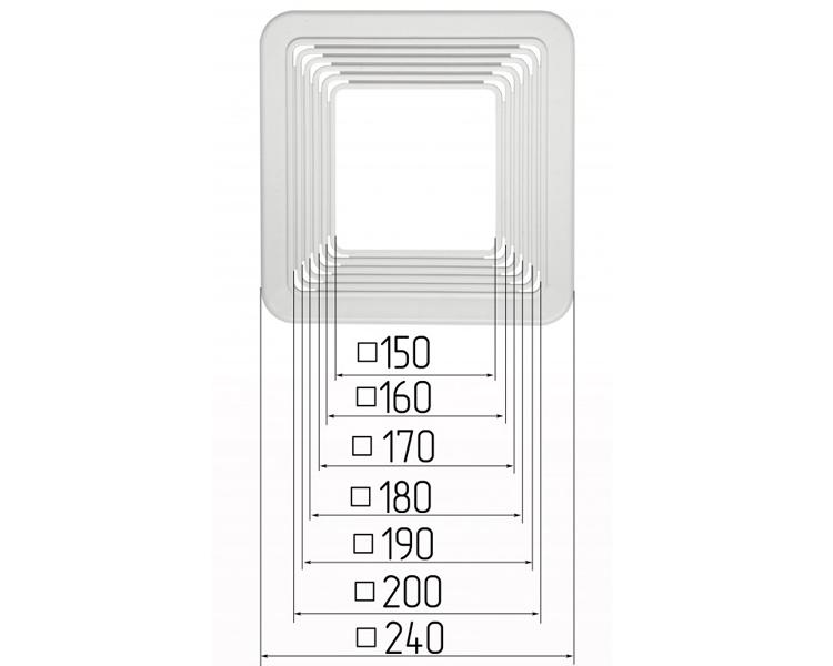 Chaises de spots carré 150-200