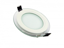 Glass LED Panel Light Round 6W 4000K