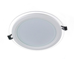Glass LED Panel Light Round 12W 4000K