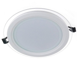 Glass LED Panel Light Round 15W 4000K