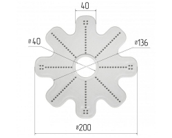 Lustre plate-forme model 502