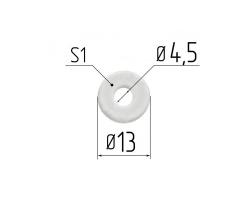 Rondelle De Renfort Ø 4,5 mm 1 mm