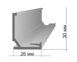 Profilé visible PVC Mural L2.5M